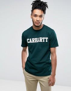 Футболка классического кроя Carhartt WIP College - Зеленый