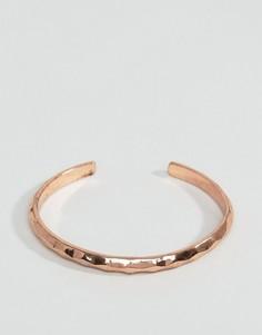 Золотисто-розовый металлический браслет-манжета Icon Brand - Золотой