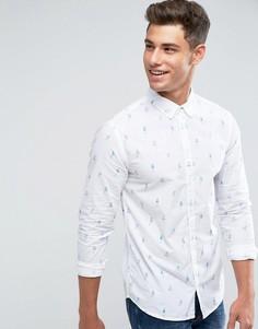 Рубашка с длинными рукавами и принтом в стиле пин-ап Blend - Белый