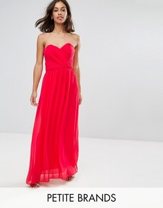 Шифоновое платье-бандо макси ASOS PETITE WEDDING - Розовый
