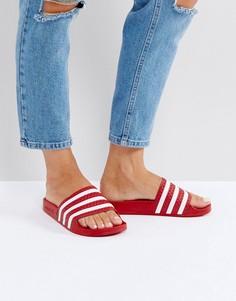 Красные сандалии adidas Adilette - Красный