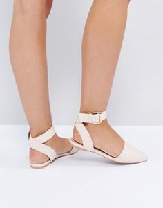 Туфли на плоской подошве с заостренным носком The March - Бежевый