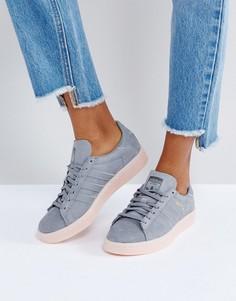 Темно-серые кроссовки adidas Campus - Серый