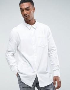 Белая джинсовая рубашка Weekday - Белый