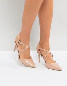Туфли на каблуке с острым носком New Look - Бежевый