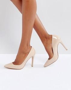 Телесные кожаные туфли на каблуке Dune Aiyana - Розовый