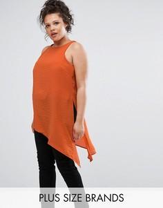 Оранжевая асимметричная туника Elvi - Оранжевый