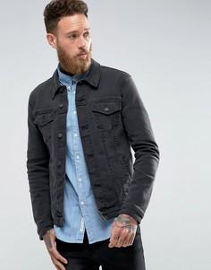 Черная джинсовая куртка суперузкого кроя ASOS - Черный