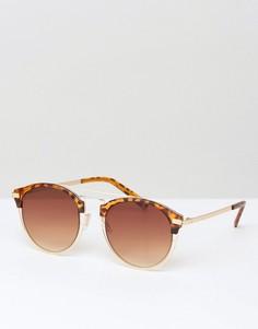 Круглые солнцезащитные очки 7X - Черный