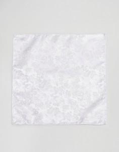 Платок для пиджака с цветочным принтом ASOS - Белый