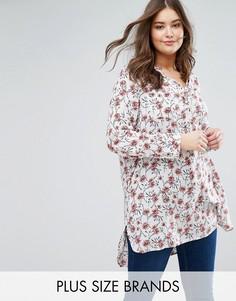 Удлиненная рубашка‑туника с рукавами 3/4 Rage Plus - Мульти