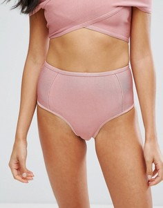 Плавки бикини с завышенной талией Missguided - Розовый