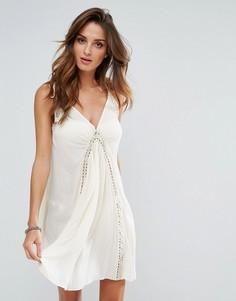 Пляжное платье с отделкой кроше Surf Gypsy - Кремовый