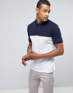 Поло со вставками Burton Menswear - Белый