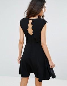 Платье с фигурными краями на спине Louche Elaine - Черный