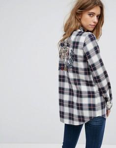 Рубашка в клетку с вышивкой на спине Only - Мульти