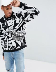 Джемпер с принтом в стиле граффити ASOS x MTV - Черный