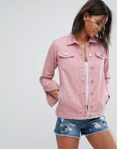 Длинная джинсовая куртка Miss Selfridge - Фиолетовый