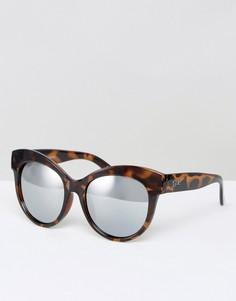 Солнцезащитные очки в черепаховой оправе Quay Australia Miaden - Коричневый