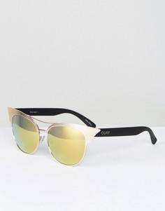 Солнцезащитные очки с планкой Quay Australia - Золотой
