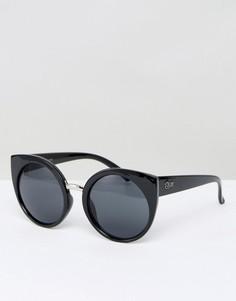 Солнцезащитные очки кошачий глаз Quay Australia China Doll - Черный