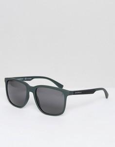 Солнцезащитные очки в квадратной оправе Emporio Armani - Зеленый