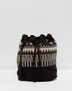 Сумка-мешок с узором Reclaimed Vintage Inspired - Черный