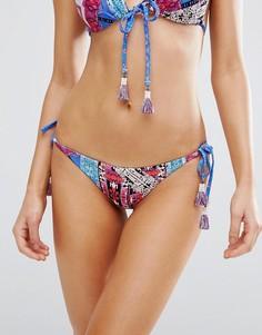 Бразильские плавки бикини с завязками Seafolly - Мульти