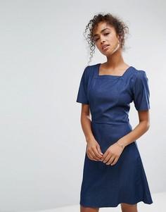 Джинсовое платье с квадратным вырезом Trollied Dolly - Синий
