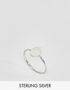 Серебряное кольцо с отделкой в форме капли Kinglsey Ryan - Серебряный