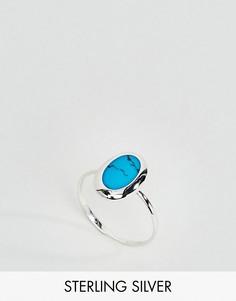 Серебряное овальное кольцо с бирюзой Kingsley Ryan - Серебряный