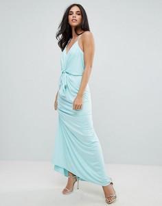 Платье макси на бретельках с поясом Forever Unique - Синий