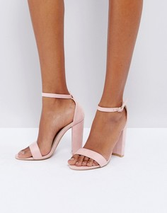 Босоножки на каблуке Glamorous - Розовый