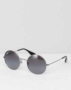Круглые солнцезащитные очки с поляризованными стеклами Ray-Ban Jajo 0RB3592 - Серебряный