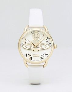 Часы с бежевым кожаным ремешком Vivienne Westwood VV163CMCM - Бежевый