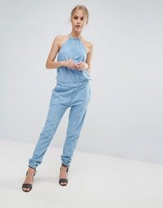 Джинсовый комбинезон с халтером Pepe Jeans Lopez - Синий