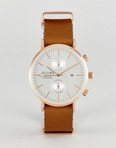 Часы-хронограф с коричневым кожаным ремешком Reclaimed Vintage Inspired - Коричневый