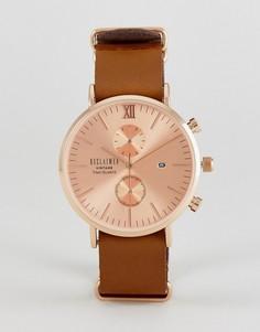 Часы с хронографом и кожаным коричневым ремешком Reclaimed Vintage Inspired - Коричневый