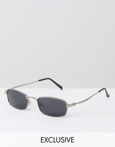 Квадратные солнцезащитные очки Reclaimed Vintage Inspired - Серебряный