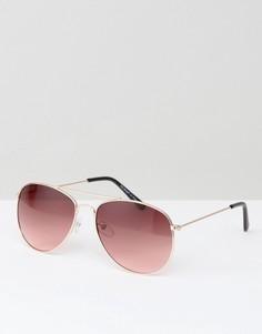 Солнцезащитные очки-авиаторы с розовыми линзами AJ Morgan - Розовый