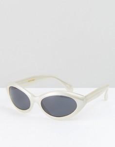 Солнцезащитные очки кошачий глаз кремового цвета Reclaimed Vintage Inspired - Кремовый