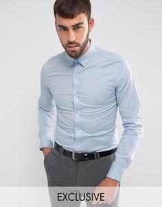 Эластичная приталенная рубашка Only & Sons - Синий