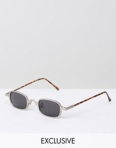 Квадратные солнцезащитные очки в серебристой оправе Reclaimed Vintage - Серебряный