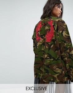 Куртка с камуфляжным принтом Milk It Vintage - Зеленый