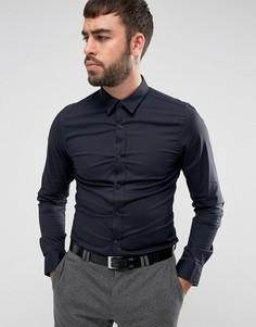 Эластичная приталенная рубашка Only & Sons - Темно-синий