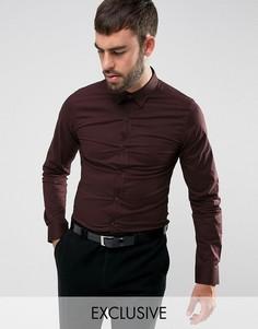 Эластичная приталенная рубашка Only & Sons - Красный