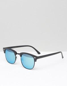 Солнцезащитные очки в стиле ретро Jack & Jones - Черный