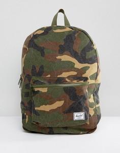 Рюкзак из хлопковой парусины с камуфляжным принтом Herschel Supply Co - Зеленый