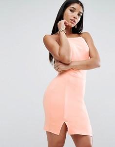 Платье мини с двумя разрезами ASOS - Мульти
