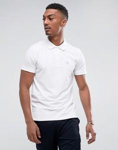 Футболка-поло с логотипом на груди Selected Homme - Белый